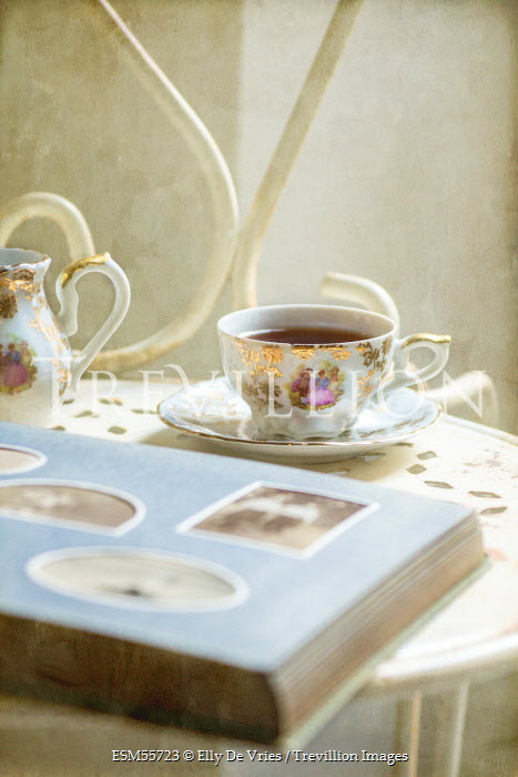 Elly De Vries OLD PHOTO ALBUM WITH TEACUP Miscellaneous Objects