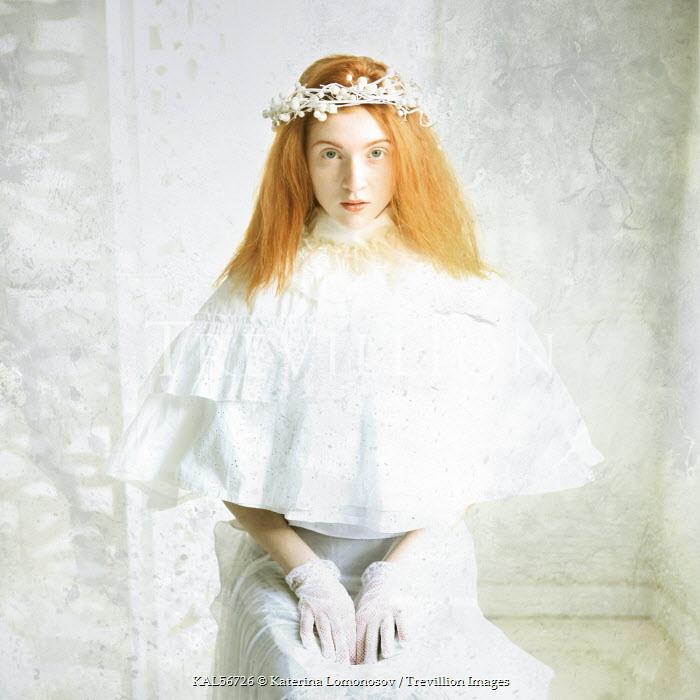 Katerina Lomonosov WOMAN WITH RED HAIR IN HEADDRESS Women
