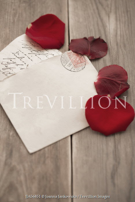 Joanna Jankowska ROSE PETALS WITH LOVE LETTER Miscellaneous Objects