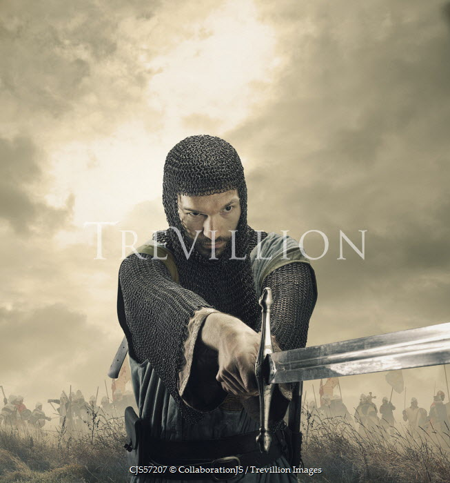 CollaborationJS MEDIEVAL KNIGHT WITH SWORD ON BATTLEFIELD Men