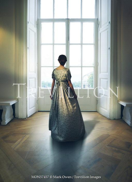 Mark Owen HISTORICAL WOMAN STANDING IN GRAND ROOM Women