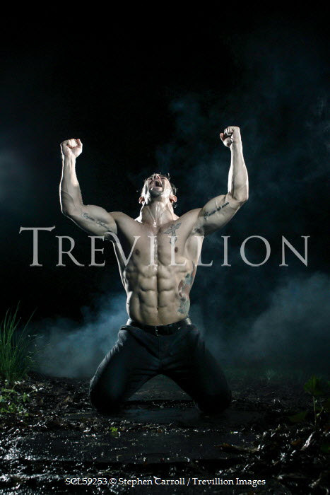 Stephen Carroll ANGRY MUSCLY YOUNG MAN Men