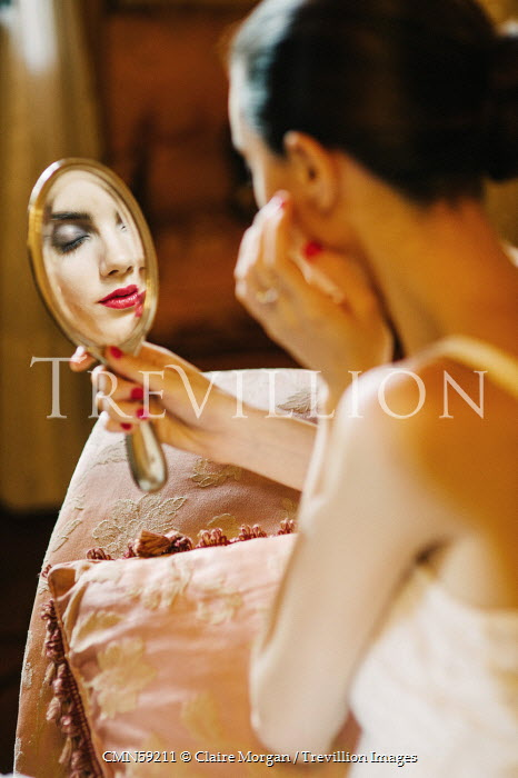 Claire Morgan YOUNG WOMAN REFLECTED IN MIRROR Women