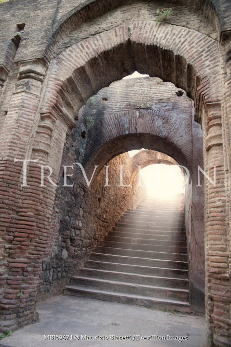 Maurizio Blasetti HISTORICAL STONE STAIRCASE UNDER BRICK ARCHES Stairs/Steps