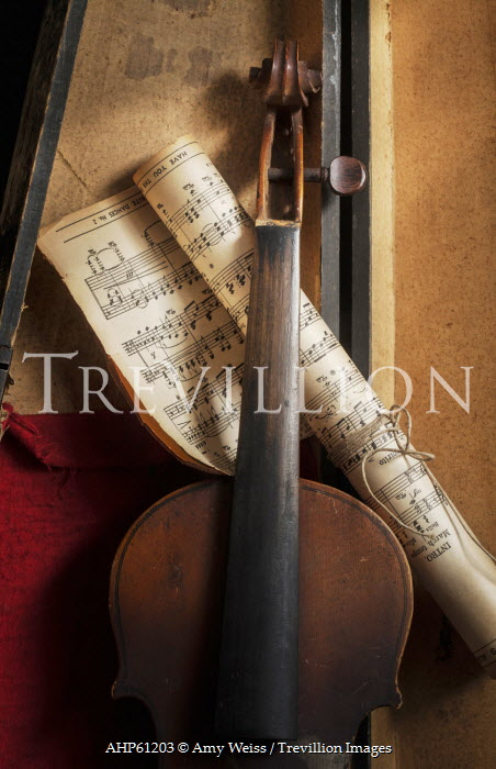 Amy Weiss STILL LIFE OF VIOLIN AND SHEET MUSIC Musical Instruments