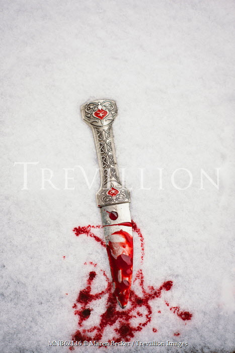Maren Becker BLOODY DAGGER LYING IN SNOW Weapons