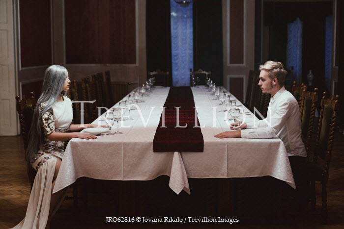Jovana Rikalo COUPLE SITTING AT DINING TABLE Couples