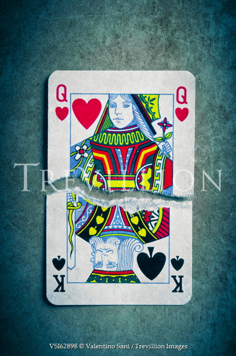Valentino Sani RIPPED KING AND QUEEN PLAYING CARDS Miscellaneous Objects