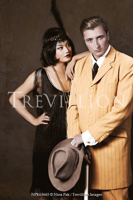 Nina Pak RETRO GANGSTER COUPLE TOGETHER INDOORS Couples