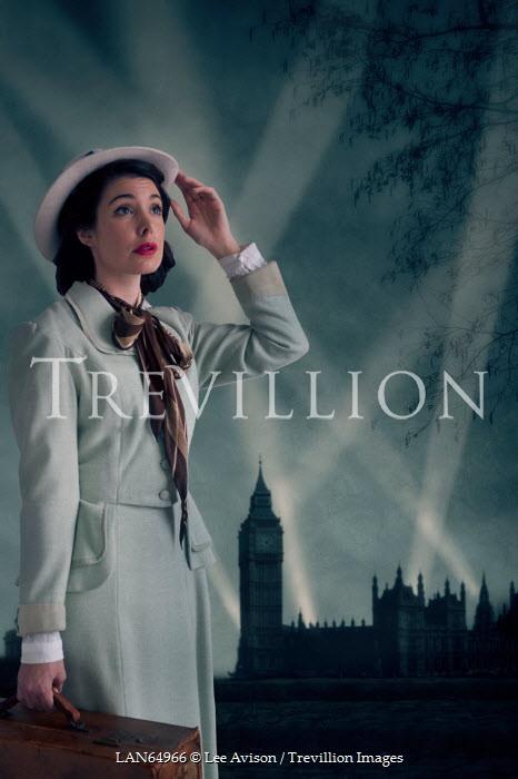 Lee Avison VINTAGE 1940S WOMAN IN LONDON Women