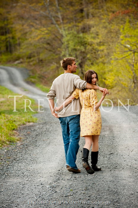 Joshua Sheldon YOUNG AFFECTIONATE COUPLE ON COUNTRY ROAD Couples