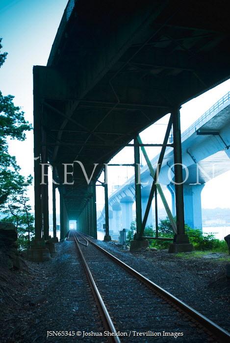 Joshua Sheldon TRAIN AT END OF TRACKS OUTDOORS Railways/Trains