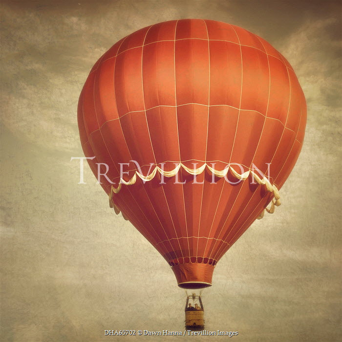 Dawn Hanna TWO PEOPLE IN RED HOT AIR BALLOON Couples