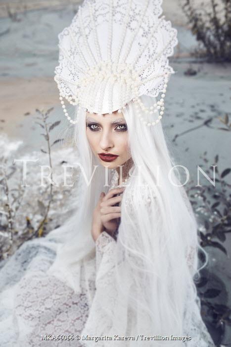 Margarita Kareva WOMAN DRESSED ALL IN WHITE Women