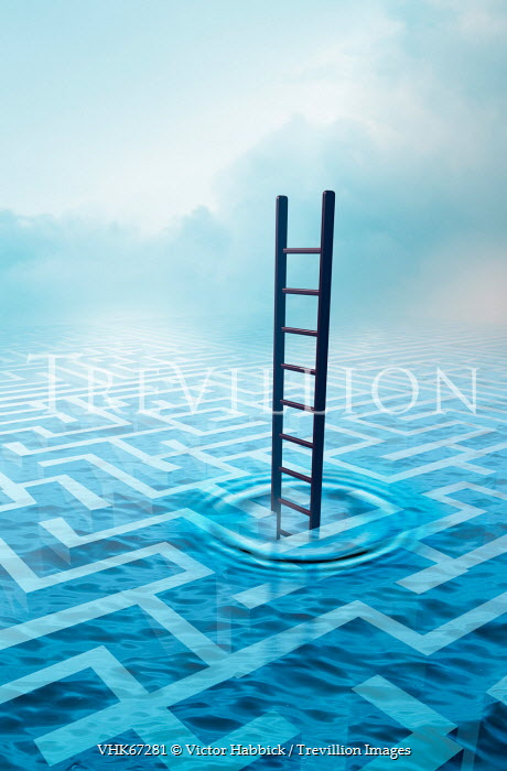 Victor Habbick SURREAL LADDER TO UNDERWATER MAZE Miscellaneous Objects