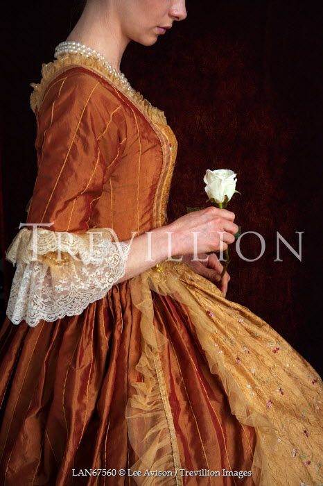 Lee Avison HISTORICAL WOMAN HOLDING FLOWER Women