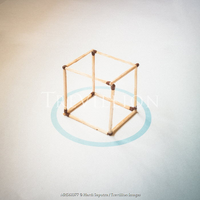 Hardi Saputra A MATCHSTICK CUBE AND BLUE CIRCLE Miscellaneous Objects