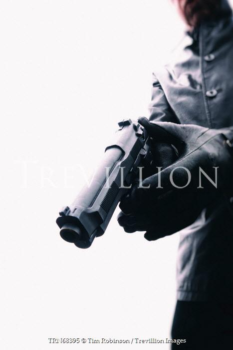 Tim Robinson MAN POINTING HAND GUN Men