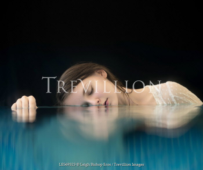 Leigh Bishop Eros YOUNG WOMAN LYING IN WATER Women