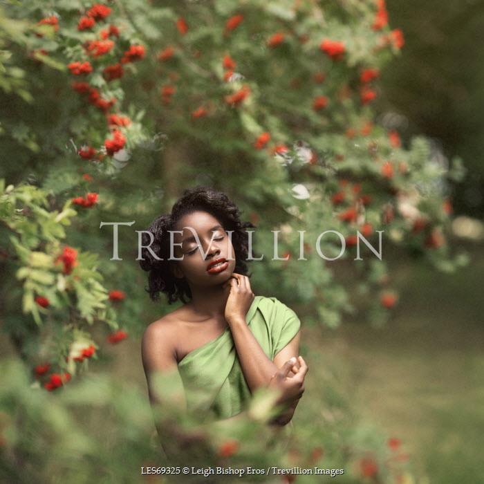 Leigh Bishop Eros WOMAN STANDING AMONG BERRY TREES Women