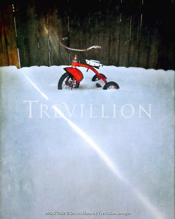 Dawn Hanna CHILDS TRIKE LEFT IN SNOW Miscellaneous Transport