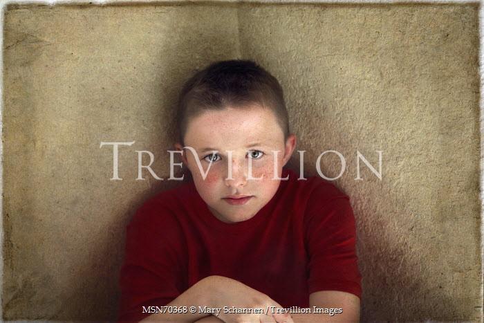Mary Schannen MODERN TEEN BOY WITH FRECKLES Children