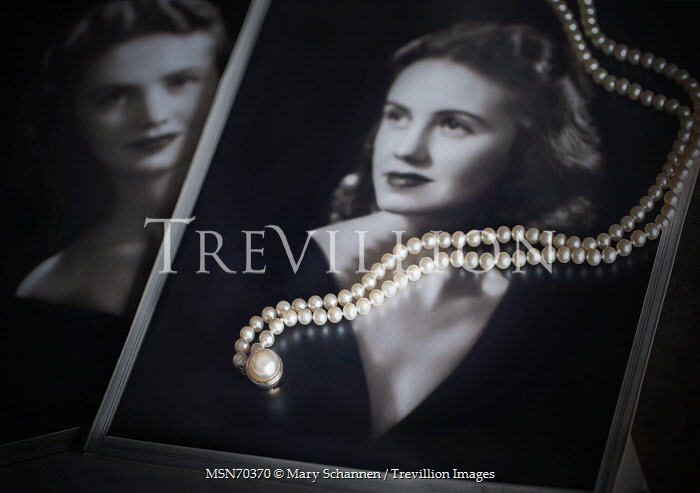 Mary Schannen VINTAGE PHOTOS OF WOMAN AND PEARLS Miscellaneous Objects