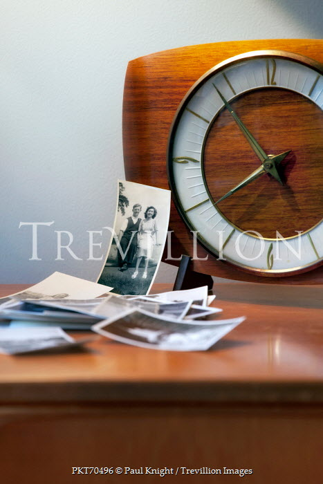 Paul Knight RETRO CLOCK AND OLD PHOTOGRAPHS Miscellaneous Objects