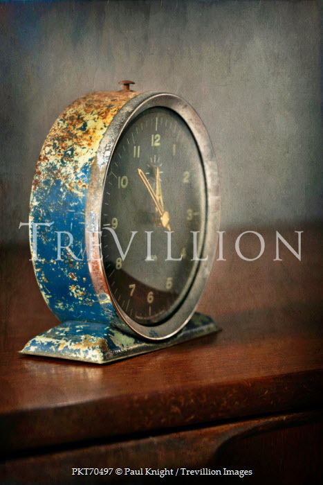 Paul Knight RUSTY ANTIQUE CLOCK INDOORS Miscellaneous Objects