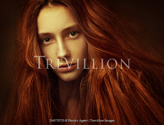 Dmitry Ageev WOMAN WITH THICK RED HAIR CLOSE UP Women