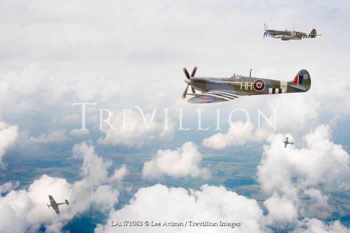 Lee Avison FOUR 1940S AEROPLANES FLYING THROUGH CLOUDS Miscellaneous Transport