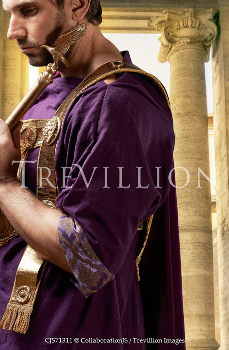 CollaborationJS ROMAN EMPEROR IN PURPLE ROBES NEAR PILLARS Men