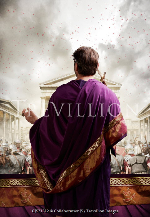 CollaborationJS ROMAN EMPEROR IN PURPLE ROBES NEAR ARMY Men