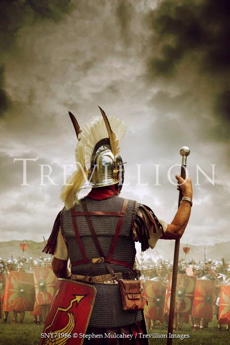 Stephen Mulcahey A Roman centurion commands his troops Men