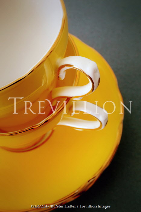 Peter Hatter YELLOW CHINA TEA CUPS AND SAUCER Miscellaneous Objects