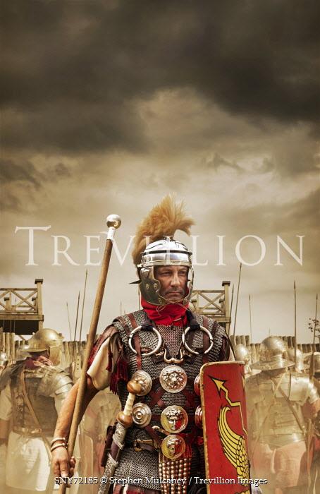 Stephen Mulcahey Roman commander man orders his troops Men
