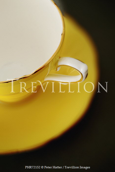 Peter Hatter YELLOW CHINA TEA CUP AND SAUCER Miscellaneous Objects