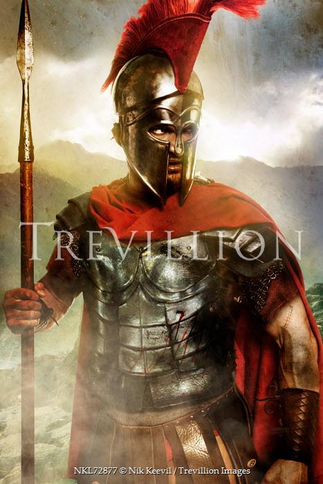 Nik Keevil ANCIENT ROMAN MAN HOLDING SPEAR Men