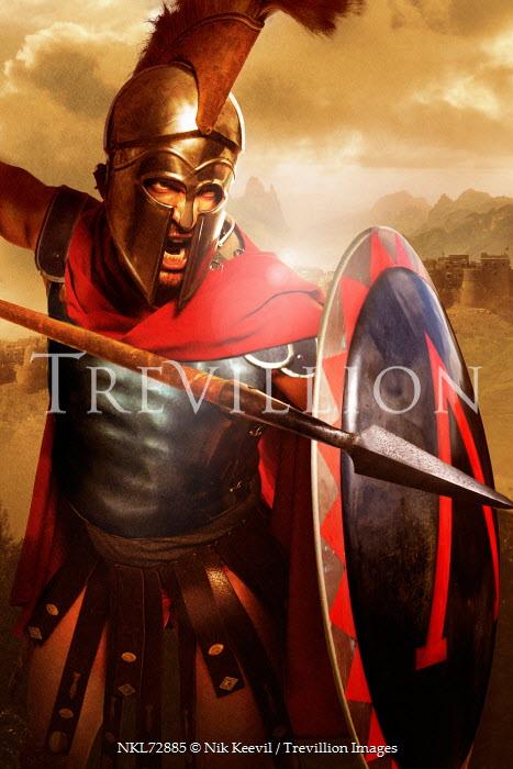 Nik Keevil ANCIENT ROMAN MAN IN BATTLE Men