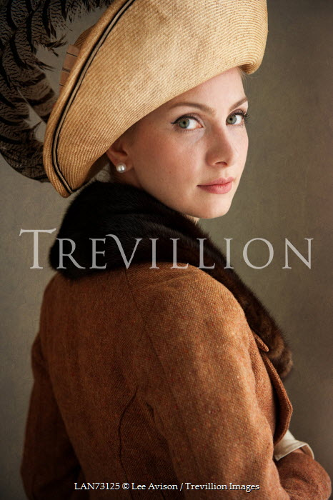 Lee Avison young edwardian woman wearing hat Women