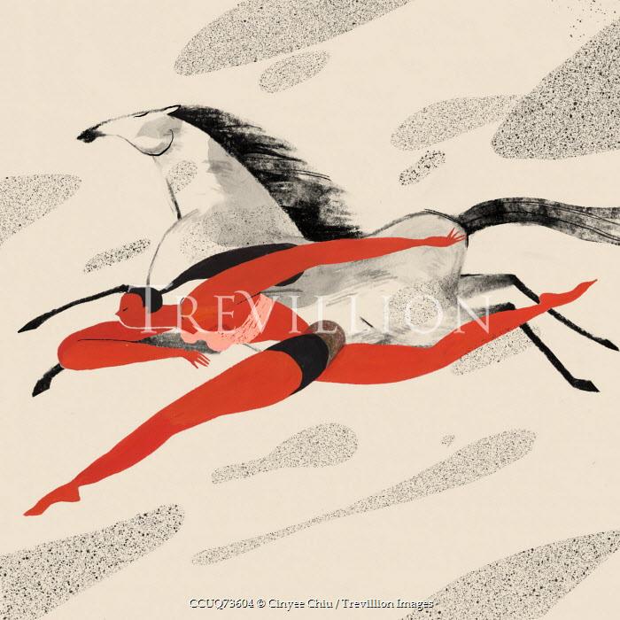 Cinyee Chiu WOMAN RUNNING WITH HORSE