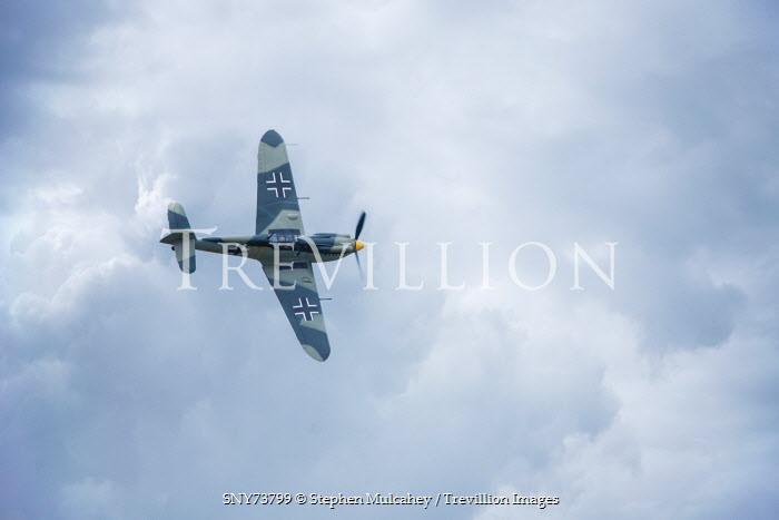 Stephen Mulcahey Messerschmitt 1940s aeroplane flying through clouds Miscellaneous Transport