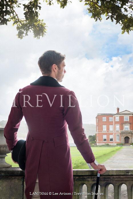 Lee Avison victorian man looking towards a country estate Men