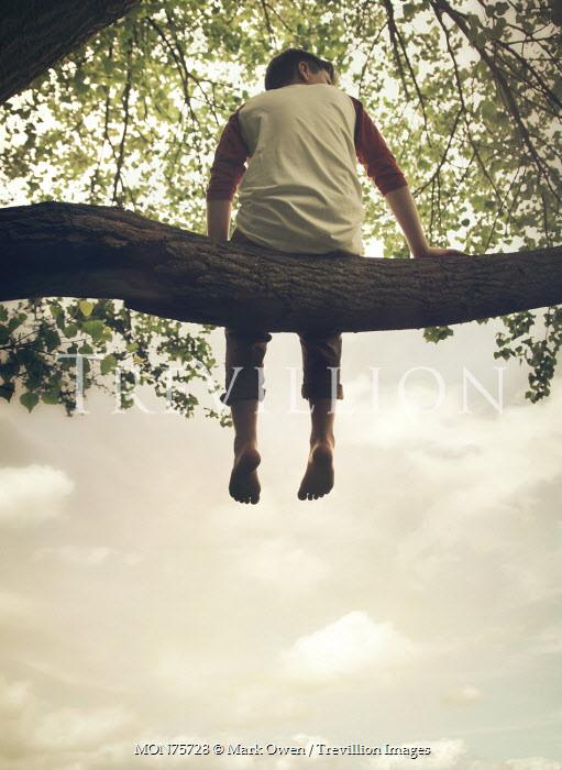 Mark Owen YOUNG TEENAGE BOY SITTING ON TREE BRANCH Children