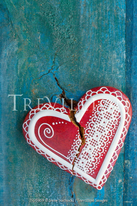 Irene Suchocki CRACK THROUGH HEART SHAPED CAKE Miscellaneous Objects