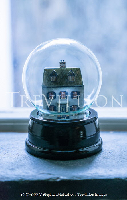 Stephen Mulcahey A miniture house in a glass globe Miscellaneous Objects