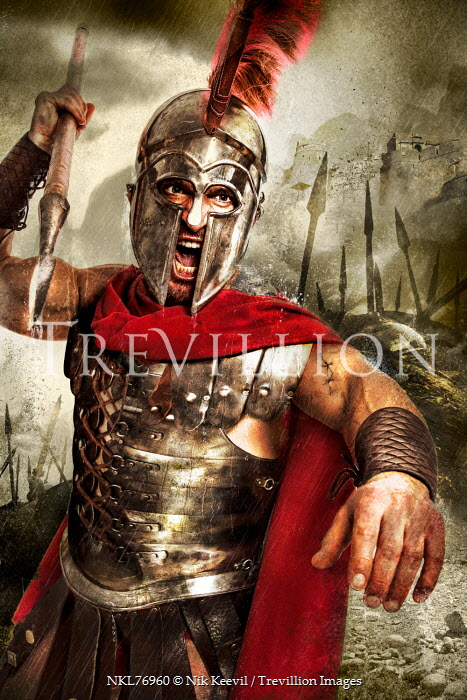 Nik Keevil ANCIENT ROMAN MAN WITH SPEAR ON BATTLEFIELD Men