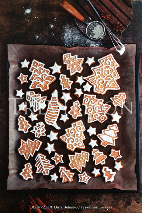 Dina Belenko CHRISTMAS COOKIES ON BAKING TRAY Miscellaneous Objects