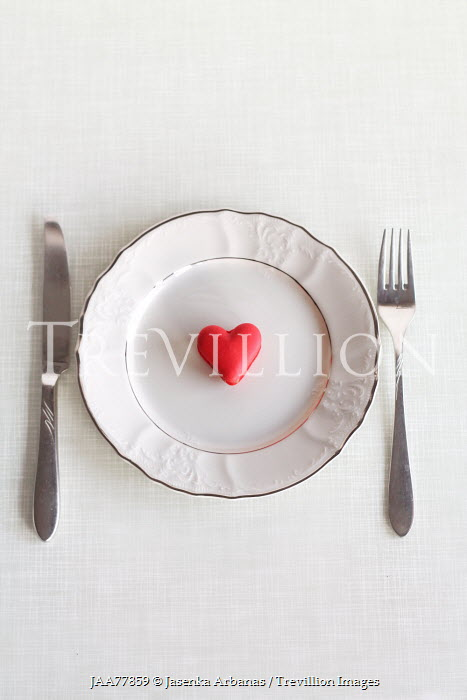Jasenka Arbanas HEART SHAPED MACAROON ON PLATE Miscellaneous Objects