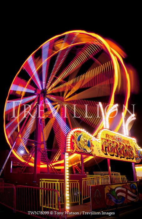 Tony Watson COLOURFUL FERRIS WHEEL AT NIGHT Miscellaneous Cities/Towns